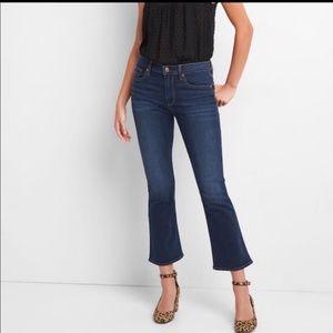 Gap Crop Flare High Rise Jeans